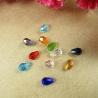 500pcs 4mm color mixture shining teardrop - shaped beads crystal-glass beads DIY accessories Free Shipping