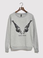 Autumn fashion fun print vintage loose loop pile sweatshirt pullover women's yj