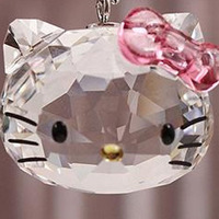 Wholesale Rhinestone Crystal brand fashion 1100031 Hello Kitty Pendant Jewelry hot sale A birthday present Free shipping