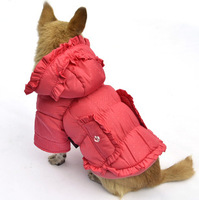 Dog Pet Chihuahua Clothes Wholesale Spot Hooded Pet Jackets Trendy ruffled cold-proof Dog Coat Winter Clothing Free Shipping