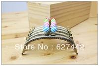 15CM purse frame, colorful kiss lock, Stripe Candy Bead Metal Purse Frame,Wallet Rose Frame,5 Colors Cute Coin Purse Frames