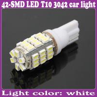 2 pcs/Lot_T10 3042 Bulb Wedge Car 42-LED SMD White Light _ turn signal, corner, parking, side marker, tail , back up lights