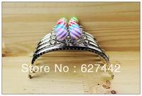 12.5CM purse frame, colorful kiss lock, Stripe Candy Bead Metal Purse Frame,Wallet Rose Frame,5 Colors Cute Coin Purse Frames