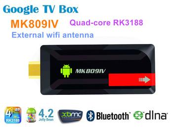 Andriod 4.2 tv dogle Quad-core RK3188 2GB/8GB External wifi antenna HDMI  3D Movie Play  DLNA 1080P XBMC Somatic Game mini pc