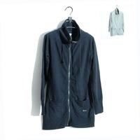 - 2013 spring cotton spandex ultra long zipper sweatshirt outerwear - 2