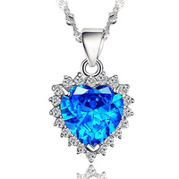 High Quality  jewelry  blue pendants Korean version of the retro Perliamo for women free shipping