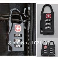 Free shipping Swiss army knife lock password lock laptop bag padlock mini luggage lock travel bag lock 3 Digital Combination