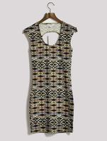Summer slim national trend geometry print slim tank dress one-piece dress female plus size