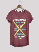 Fashion print medium-long loose short-sleeve T-shirt women's plus size