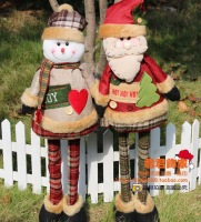 0.8 meters fabric christmas snowman decoration retractable Christmas gift Christmas decoration