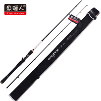 NEW ARRIVEL!!! free shipping 1.98m  2section 98% high carbon pole EVA handle baitcasting fishing rods LRBC1-662M