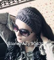Free Shipping,2013 New 5pcs/lot Fashion Braided Knited Headbands For Women Winter Warm,Crochet Handmade Hairband