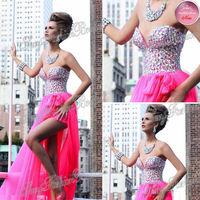 2014 Tarik Ediz Dress Sexy Sweetheart With Crystals Natural Waist A line Floor length Chiffon Party Evening Dresses Long