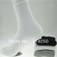 Free shipping 20pcs=10pairs hotsell 2013 men polyester cotton socks casual men's sports socks size 39-44