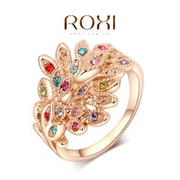 ROXI phoenix rings,rose gold plated top quality make with genuine Austrian crystals, 100% hand made fashion jewelry,2010009290