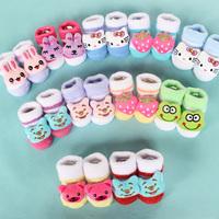 Newborn three-dimensional cartoon socks