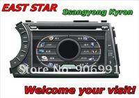 Car stereo DVD for Ssangyong Kyron Built-in GPS Bluetooth CD MP3/4 Radio Tuner TV DVB-T ipod rds Free shipping ES-1708