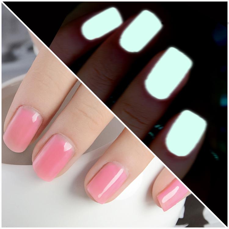 Esmalte de uñas luminoso cosmay esmalte uñas 12ml aceite de neón de color rosa de agua- a base de cuarzo cn03 maquillaje