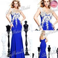 2014 Tarik Ediz Dress Sexy One shoulder With Beading Natural Waist Mermaid Floor length Satin Party Evening Dresses Long