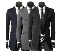 Free shipping 2013 ious in the spring and autumn with two grain of buckle is convenient in long suit jacket fashion design