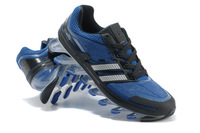 Hot! Free Shipping 2013 New Fashion Shoes Men's Running Shoes Black and Blue Silver Treasure 40-45
