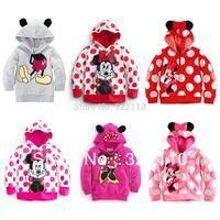 Girls Tops Mickey Sweatshirt Kids Outerwear Children Casual Clothing Baby wear Jacket/Coat Drop shipping Wholesale 90-130cm