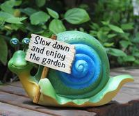 2014 New arrival Promotions villa garden Balcony Garden Landscaping Decoration Ceramic  leisurely snail