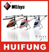 Free shipping WL toys V911 4CH 2.4GHz Radio Control Helicopter RTF,Single Blade RC Helicopter Gyro WLtoys V911