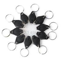 10pcs Led Light Mini Keychain White Light 22000Mcd Flashlight With Keychain Electric Torch