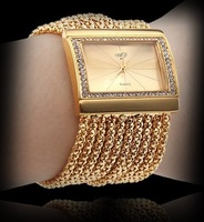 Women Crystal Quartz Bracelet Wrist Watch Luxury Wedding Evening Hour-WAT10270