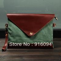 2013 cowhide briefcase clutch file bag genuine leather envelope bag commercial one shoulder cross-body bag men free shipping