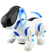 2013 NEW  Blue Robotic Electronic Walking Pet Dog Puppy Kids Toy With Music Light