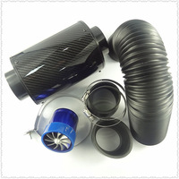 Free shipping high-flow air intake modification of pure carbon fiber air box set / air filter