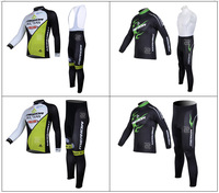 2013 Merida Thermal Fleece Cycling Jersey Long Sleeve and Cycling (bib) Pants GTZ005