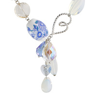 Special necklace female vintage fashion crystal pendant blue and white porcelain 2013 winter