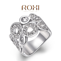 ROXI New Christmas gift Classic luxury rings,top quality make with genuine SWR crystal, 100% hand made fashion jewelry,