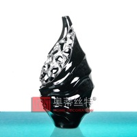 Silver plated cutout carved vase ao-ab018-12-b
