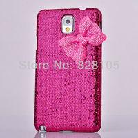 Fashion Cute 3D Rhinestone Bow Bling Crystal Hard Back Case Cover For Galaxy Note 3 N9000