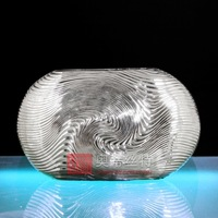 Silver plated thread vase ao-sa030020b