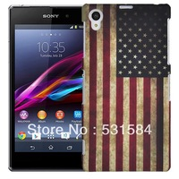 For Sony Xperia Z1 Honami L39h C6906 C6903 Hard Case Retro USA National Flag Pattern FreeShipping
