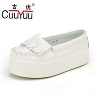 Chinese brands CuuYuu 2013 autumn platform single shoes tassel shoes genuine leather women's hot-selling shoes