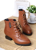 2013 autumn comfortable horseshoe with lacing martin boots boots shoes spring and autumn fashion pointed toe