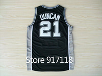 Free Shipping,#21 Tim Duncan Rev 30 Top quality New Material Basketball jersey,Embroidery logos,Size 44-56
