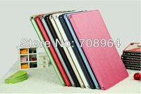 New Silk Series PU Leather Case Cover Stand for Apple iPad 5 iPad Air,free shipping!!