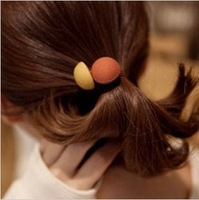 Korean version of the new candy-colored mushroom mix color hair ring hair Shengpi tendons