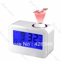 Free Shipping Talking Projection Alarm Digital LED Projector Clock with calendar and thermometer LED-C809