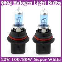 2 pcs/Lot_9004 Low Beam 12V 100/80W Light Bulbs 6000K Halogen Xenon New Super White
