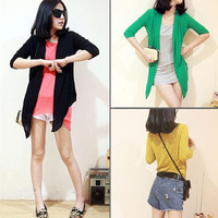 New Womens Lady Chic Sleeve Long All-powerful Match Cardigan Knit Sweater 3105