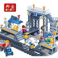 assembling building blocks child plastic building blocks toy model