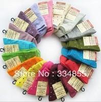 Yiwu commodity candy knee socks 100% cotton socks autumn and winter women's socks